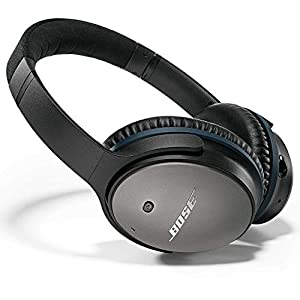 Bose QuietComfort 25 Acoustic Noise Cancelling Headphones for Samsung and Android devices, Black (wired, 3.5mm) (Renewed…