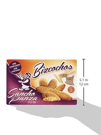 Sancho Panza - Bizcochos - Sin conservantes ni colorantes - 5 paquetes: Amazon.es: Alimentación y bebidas