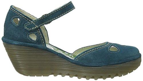 Fly London Yuna - Zapatos de vestir de cuero para mujer azul - Blue (Petrol)