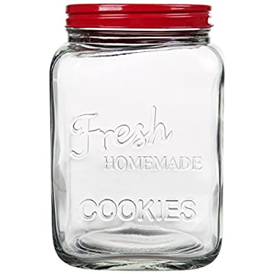 Home Essentials 1375 8.25 In. H Cookie Jar With Red Lid