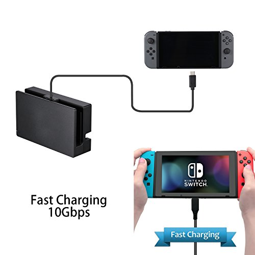 Price comparison product image Nintendo Switch Charging Extension Cable – Zikke Provide for SWITCH PRO Handle Extension Cable,  SWITCH TV DOCK Data,  Video,  Transmission Extension Cable