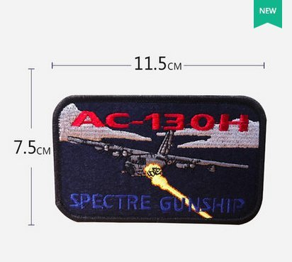 AC-130 SPECTRE GUNSHIP US AIR FORCE PATCH C-130 SKULL AFB SPECIAL OPS PILOT CREW VELCRO PATCH - C 130 Patch