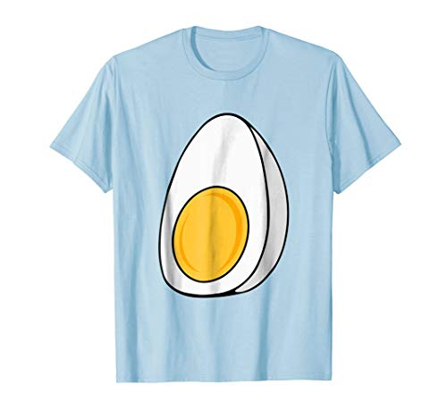 Mens Deviled Egg Fried Egg Halloween Costume T-shirt Small Baby Blue -