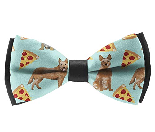 (Bow Ties For Men - Mens Luxury Polyester Australian Cattle Dog Pizzas Tie Bowties For Men Bowtie Great For Tuxedo Business Suit Wedding Party Bow Tie)