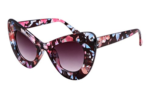 FEISEDY Cat Eye Retro Acetate Frame Polycarbonate Lenses Women Sunglasses Dark - Eye Frames Retro Cat