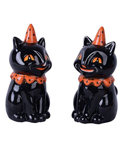 Transpac Vintage Cat Salt & Pepper Shaker Set ()