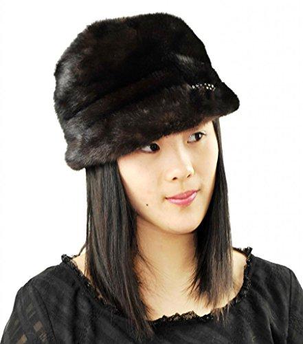 CX FUR Women Fur Cap China Factory Mink Fur Cap,Natural Colour by CX FUR