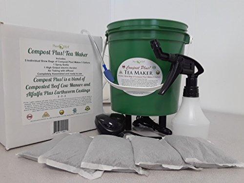Compost Plus! Tea Maker including 5 Brew Bags of Compost ...