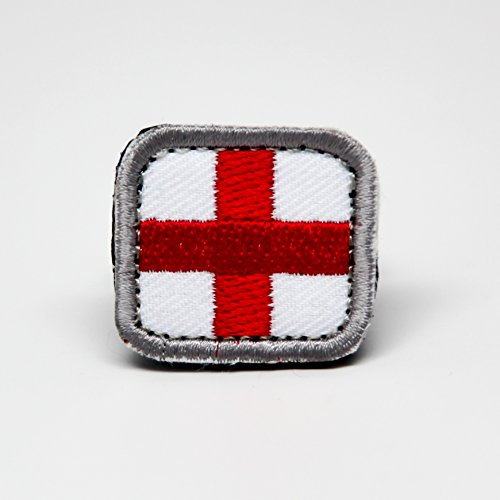 MEDIC - Embroidered Morale Patch, Velcro Morale Patch by NEO Tactical Gear (White w/ Red Cross)