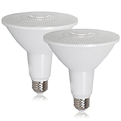 Maxxima PAR38 LED Indoor / Outdoor Warm White Light Bulb 1200 Lumens 15 Watts 120 Watt Equivalent 3000K 90 CRI Dimmable Energy Star Flood Light (2 Pack)