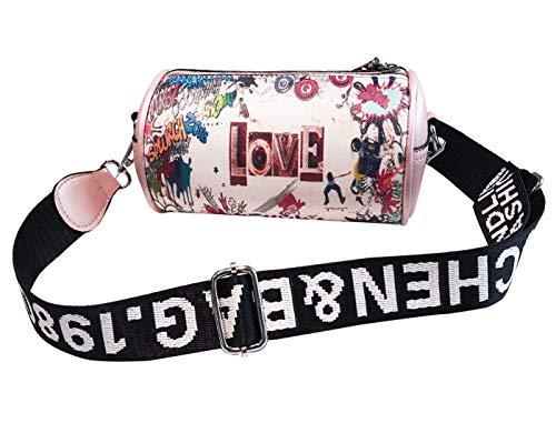 Pu Shopping Pink Bucket Crossbody Handbag Gift Wedding Girls Fashion Clutch Leather Pattern Evening Dating Bag Pink XBOnHXxwZ