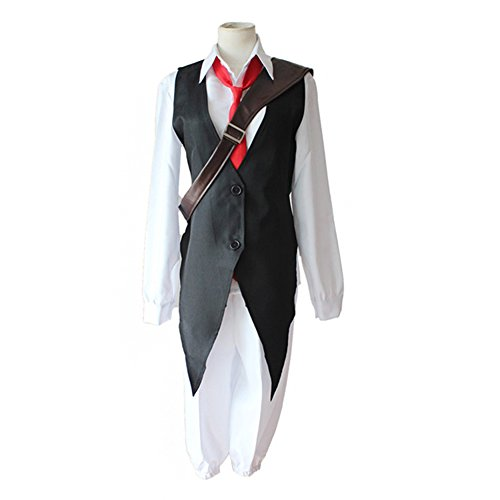 Mtxc Men's The Seven Deadly Sins Cosplay costume Meliodas Suit Size Small Black