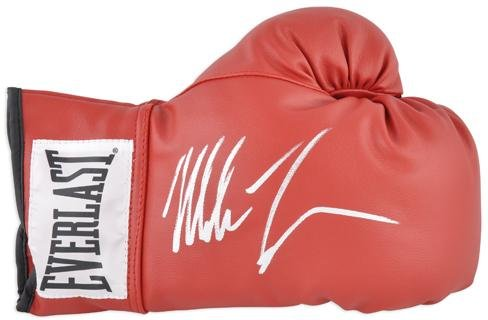 Mike Tyson Autographed Red Boxing Glove Fanatics Authentic Certified Autographed Boxing Gloves