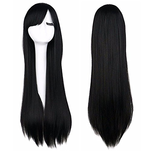 iLoveCos Women's Cosplay Wigs Black ()