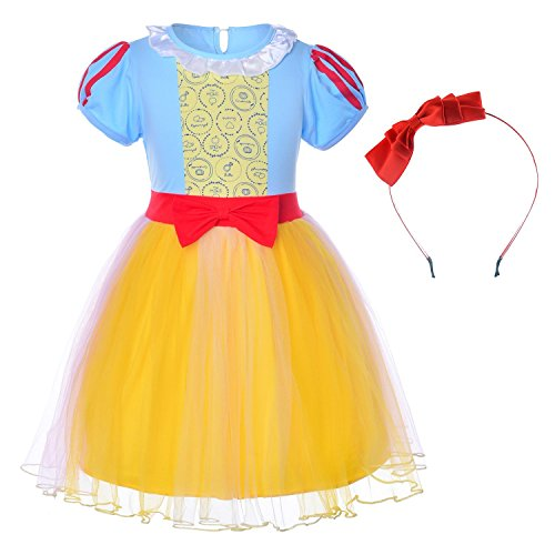 Princess Snow White Costume For Toddler Girls With Headband 18-24 Months