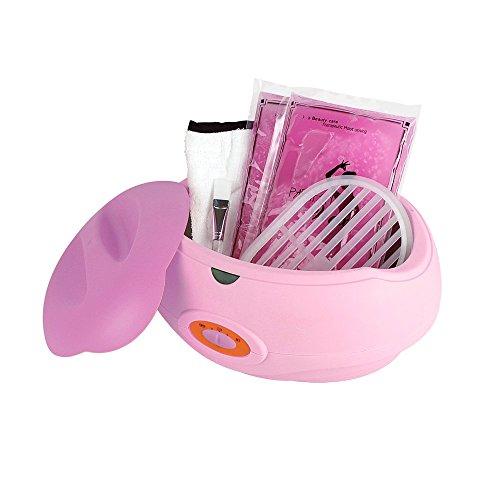 SPEED Kosmetik Paraffinbad Paraffin inkl 2x450g Paraffin 150W Wachs and Zubehör Paraffin Starter-Set Pink