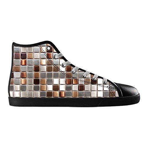 Top Verre D Up Sneakers Women's Lace Footwear Dalliy Mosaïque Texture Canvas Pour Carrelage High Chaussures Shoes 5wZSqPAH