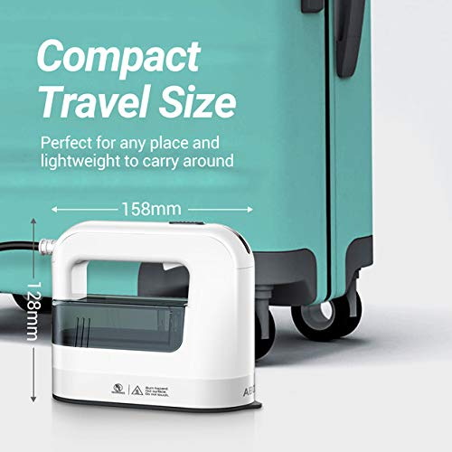 ABOX Garment Steamer, 1300W Steam Iron for Clothes, 4 in 1 Travel Steamer with 40s Fast Preheating