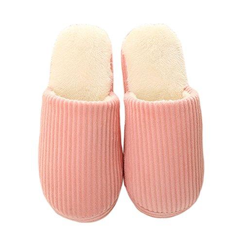 Hausschuhe Non slip Pink Unisex Schuhe Classic Meijunter Zuhause Warm Baumwolle Floor xFwqw6Yz