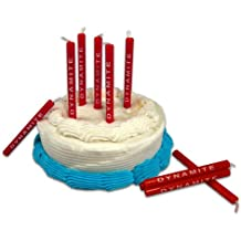 """NuOp Birthday Candle set 'dynamite' stick (set of 10) - 3"""" tall"""