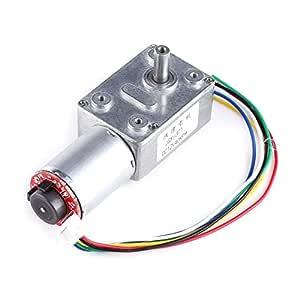 Motor 12 V DC, motor de reducción motorreductor a tornillo sin ...