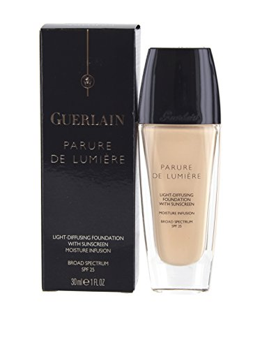 Guerlain Parure De Lumiere Light Diffusing Fluid Foundation with SPF 25, No.01 Beige Pale, 1 Ounce