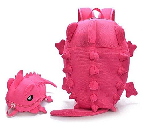 Mostro Borsa 3d Zaino Teen Del Zaini Simpatico Dinosauro Fumetto Libro Pink wwqfI8x7