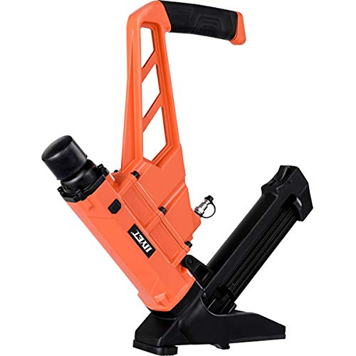 Goplus Pneumatic Flooring Nailer and Stapler 16-Gauge Cleat Air Hardwood Flooring Tool with Rubber Mallet (2-in-1)