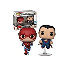 Funko Pop! DC Justice League Flash and Superman Racing Fall Convention 2 Pack Exclusive Figure