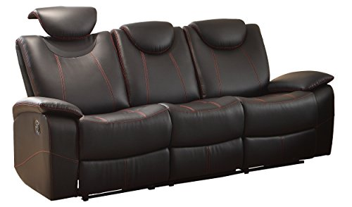 Homelegance Reclining Sofa Faux Leather, - Seating Collection Theater