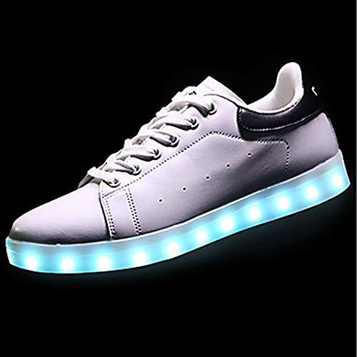 PU Sneakers EU36 UK4 Per Scarpe Luminose Scarpe Poliuretano TTSHOES Primavera Donna Punta Black CN36 Nero Rosso US6 Autunno Tonda azTtnqw0