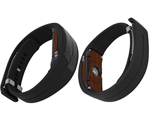 Price comparison product image Skinomi TechSkin - Epson Pulsense B& PS-100 Screen Protector + Dark Wood Full Body Skin / Front & Back Wrap / Premium HD Clear Film / Invisible & Anti Bubble Shield
