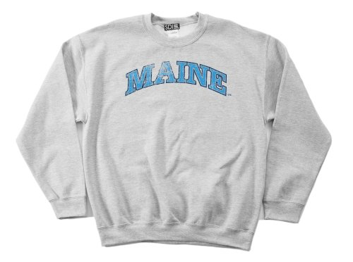 NCAA Maine Black Bears 50/50 Blended 8-Ounce Vintage Arch Crewneck Sweatshirt, X-Large, Sport Grey (Double Arch Crew Sweatshirt)