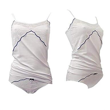 JADEA Coordinato top e slip in cotone elasticizzato art 4914