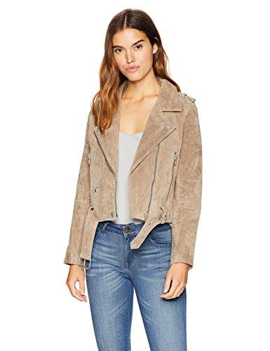 ([BLANKNYC] Women's Suede Moto Outerwear, Sand Stoner, Medium)