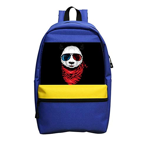 School Backpacks Cool Panda Blue Children Shoulder Bags (Moz Wheels)