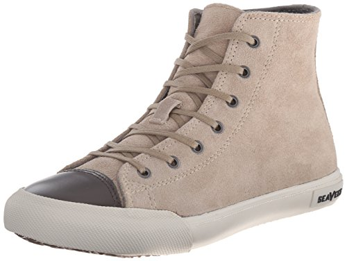 SeaVees Women's 08/61Army Issue Sneaker High Fashion Sneaker, Taupe Suede, 7 M US