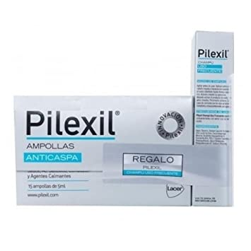 PILEXIL AMPOLLAS ANTICASPA 15 amp lab. Lacer + CHAMPU USO FRECUENTE 150 ml Hair Everyday