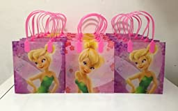 Disney Princess Tinkerbell Party Favor Goodie Small Gift Bags 12