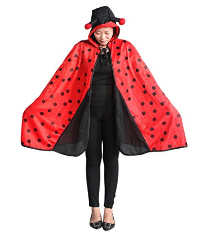 Ladybug cape adult-s halloween costume-s, unisex women-s men-s, An82 One Size -
