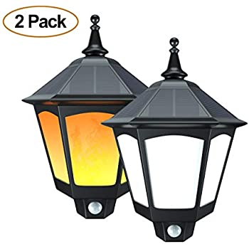 Amazon Com Fornorm Solar Led Wall Lights Outdoor Led