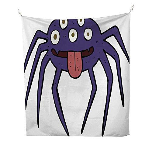 25 Home Decor Tapestries Cartoon Gross Halloween spider3 dope Tapestries 60W x 91L INCH -