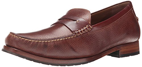 Johnston & Murphy Mens Rendon Penny Slip-On Loafer Mahogany/Brown Full Grain L7Qmil1