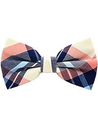 Mens 100% Cotton Color Plaid Adjustable Pre-Tied Bow Ties