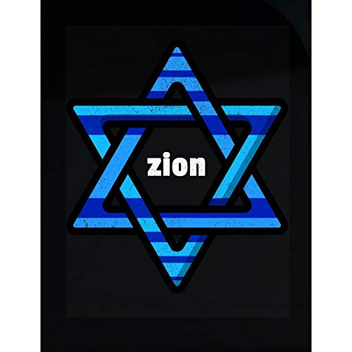 (Happy People Smile Hanukkah Tshirt Magen David for Zion Lovers - Transparent Sticker)