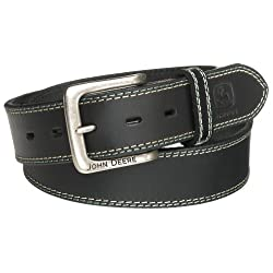 John Deere Men's 38mm Belt,Black,34