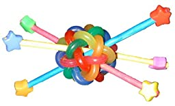 Super Bird Creations 4-1/2 by 4-1/2-Inch Outta This World Bird Foot Toy, Medium to Large