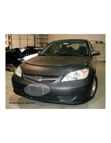 (Lebra 2 piece Front End Cover Black - Car Mask Bra - Fits - HONDA,CIVIC,DX, EX, GX, HX, HYBRID, LX, VALUE PACKAGE,,2003 thru)