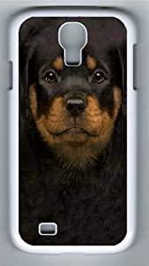 Kids Rottweiler Puppy PC Case Cover for Samsung Galaxy S4 and Samsung Galaxy I9500 White wangjiang maoyi