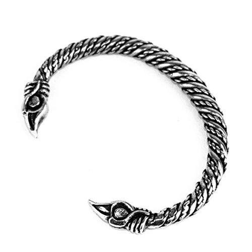Small Pewter Odin's Raven Bracelet (Pewter Kids Bracelets)
